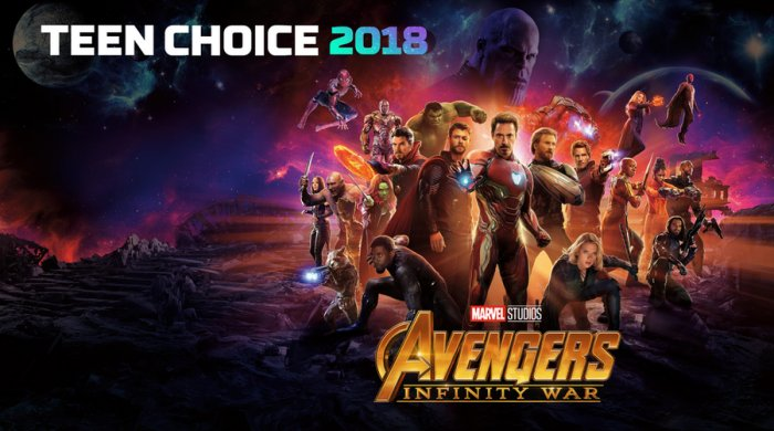 Infinity War získal sedm nominací na Teen Choice Awards